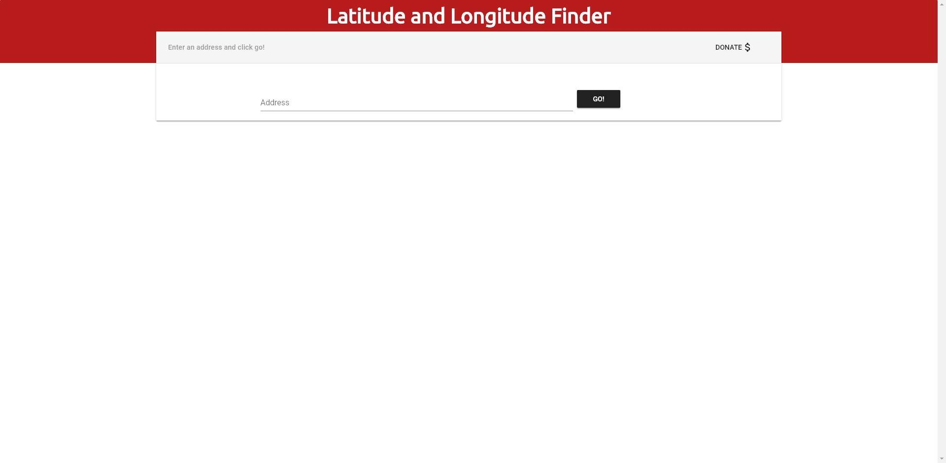 Latitude & Longitude Finder App